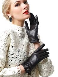 NappaNovum Women's Italian Leather Gloves Lambskin <b>Winter</b> ...