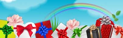 <b>Декоративный элемент</b> с <b>подарками</b> и радугой   Бесплатно ...