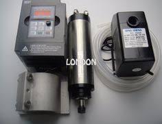 <b>800W Water</b>-<b>cooled</b> CNC <b>Spindle Motor</b> Kit 8000~24000rpm 220V ...