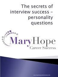 interview success personality questions 16