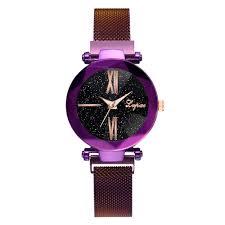 <b>Fashion lvpai Starry Sky</b> Stainless Steel Mesh Belt Watch Quartz ...