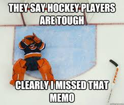 They Say Hockey Players are tough Clearly i missed that memo ... via Relatably.com