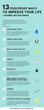 best ideas about personal development personal 13 foolproof ways to improve your life become a better person infographic self