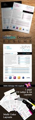graphic designer resume by osirisocampo graphicriver graphic designer resume resumes stationery
