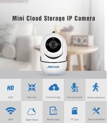 ASECAM <b>HD 1080P</b> Cloud Wireless <b>IP Camera</b> Intelligent Auto ...