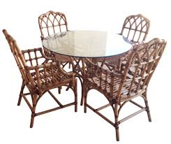 milan dining set setjpg pc dining setjpg  mcguire bamboo rattan leather wicker dining chairs t