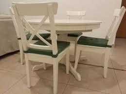 ikea ingatorp dining table  ikea ingatorp extendable table amp  ingolf chairs