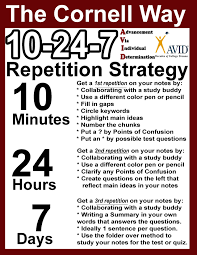 brown stanley avid cornell notes cornell notes 10 24 7 repetition strategies middot cornell way