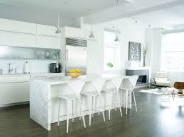 calacatta marble kitchen waterfall: contemporary kitchen by chelsea atelier architect pc