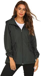 Kikibell Rain Jacket for Women Windbreaker ... - Amazon.com