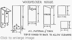 Build a Woodpecker HouseWoodpecker Bird House   Supplies  woodpeckerplan