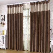 bedroom curtains brown  contemporary blackout and sound absorption brown curtains two panels