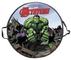 <b>Ледянка Marvel Hulk</b>, круглая, диаметр <b>52см</b>
