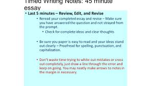 timed writing notes 45 minute essay essay guidelines structuring timed writing notes 45 minute essay last 5 minutes review edit and