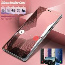 Clear View <b>Luxury</b> Smart Dormant Flip PU <b>Leather Case</b> Shockproof ...