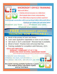 microsoft office training first bank advantages
