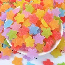 fxinba 5pcs lot slime charms mermaid tail for diy cake phone decoration sprinkles toys mud polymer clay supplies