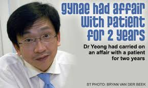 Dr Yeong Cheng Toh, 44, was in London when the Singapore Medical Council (SMC) sanctioned him in February 2008 for his affair, during which he ... - 244083