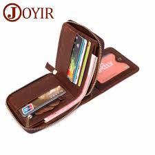 <b>JOYIR Genuine Leather Men</b> Wallet Small <b>Man</b> RFID Wallet Zipper ...