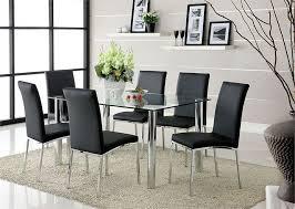 black kitchen dining sets:  black round kitchen dining table set home decoration glass kitchen tables