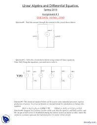 electrical circuit case problems differential equations and the document