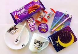 Добрых снов набор посуды Котик 990 печенье <b>Milka</b> Choco Jaffa ...
