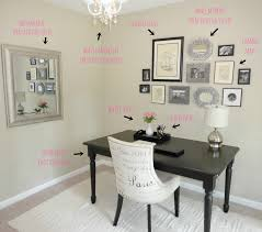 chic home office decor: ways to decorate your room home decor other design white chair also black desk office with