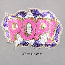 2019 <b>GUGUTREE Embroidery Sequins Big</b> Lip Patches Pop ...