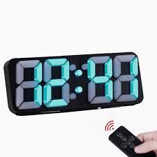 Creative <b>3D LED Digital</b> wall clock Remote Control Voice Control ...