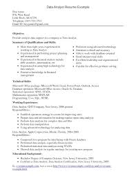 interesting data analyst resume example for employment featuring interesting data analyst resume example for employment featuring summary of qualifications an skills also working experience