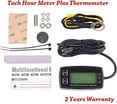 Digital Engine Tach Hour Meter Tachometer ... - Amazon.com