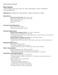 sample resume of a nurse  seangarrette co   or nurse resume sample