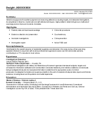 criminal investigator resume example  air force office of special    featured resumes