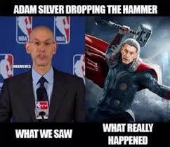 Adam Silver Meme | Kappit via Relatably.com