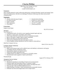 automotive technician resume search cipanewsletter best entry level mechanic resume example livecareer