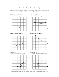 Two-Step Transformations (Old Version) (A) Geometry WorksheetFull Preview