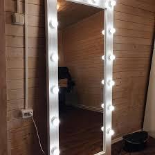 Фактурное <b>зеркало</b> с лампочками 180 на 80 <b>см</b> белое – купить в ...