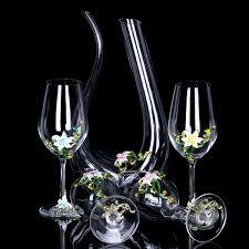 2019 <b>Enamel Lead Free</b> Crystal <b>Glass Red</b> Wine Glass Wakeup Set ...