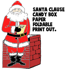 gift boxes to make   free printable paper gift boxes for presents    make a santa clause paper candy box   printable paper craft