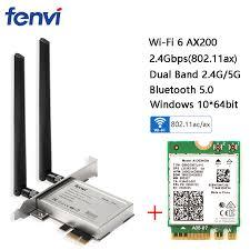 Desktop <b>Wireless Dual Band 2400Mbps</b> Bluetooth 5.0 NGFF M.2 ...