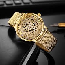 Luxury Skeleton Men <b>Watch</b> - <b>New Fashion Gold</b> Men Wathch - Mart ...