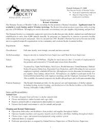resume kennel assistant kennel assistant cover letter kennel of kennel attendant resume kennel technician resume sample kennel