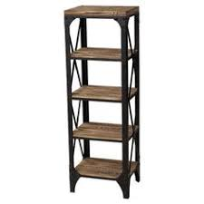 display your treasured paperbacks or seashell collection on this industrial style iron and wood bookcase amazoncom furniture 62quot industrial wood