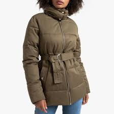 <b>Куртка стеганая</b> средней длины с ремешком хаки <b>La Redoute</b> ...