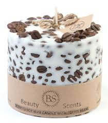 <b>Hand Made</b> Vanilla & Coffee <b>Scented</b> Soy Candle With Coffee ...