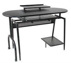 astounding black glass l shaped chrome desk black computer desks
