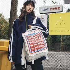 <b>Female</b> Black <b>Backpack</b> Canvas <b>Women fashion Backpack School</b> ...
