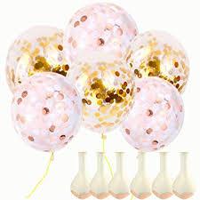 Onepine <b>12inch</b> Gold or Rose Gold Confetti <b>Balloons</b> 20Pcs ...