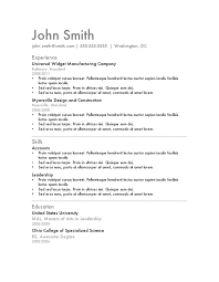 resume  really good resume templates for resume sample        resume  resume template for general job seeker with experience history and skills details  really