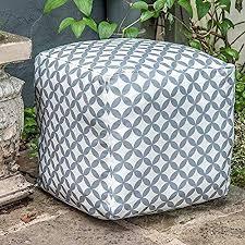 '<b>Designer</b> Waterproof Moroccan Garden Outdoor Cube <b>Pouffe</b> ...